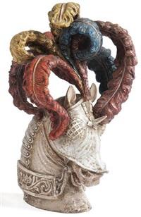 tête de cheval au barde à panache by zaccagnini