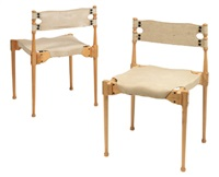 montreal stacking chair (+ another; pair) by frei otto