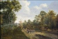 sotilaita muodostelmassa by vasili fedorovich (george wilhelm) timm