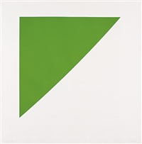 green curve with radius of 20', from for meyer schapiro by ellsworth kelly
