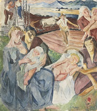 the adoration and the entombment (recto-verso) by maria-mela muter