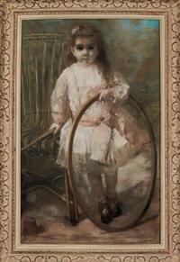 portrait d'enfant au cerceau by henri gervex