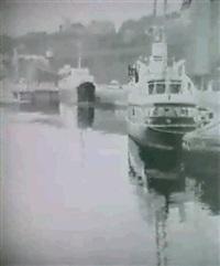 fartyg vid stadsgarden -                  stockholmsmotiv by lennart roupe