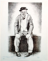 lithographie originale de achille zavatta by aslan