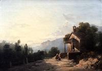 paesaggio con cappelletta by giuseppe camino