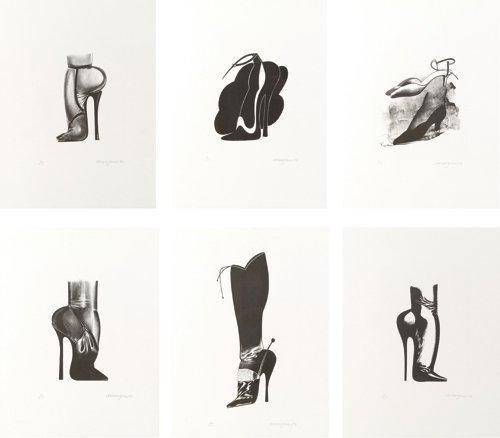 chaussures (7 works) by allen jones