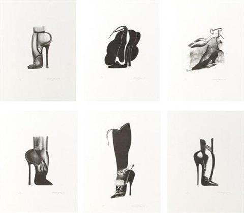 chaussures 7 works by allen jones
