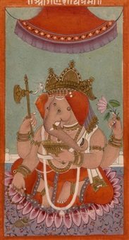 avatars de vishnou (3 works) by indian school-bengal (19)