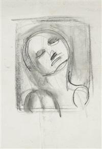 figure, tête renversée vers l'arrière (2 works) by georges rouault