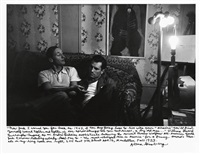 william s. burroughs and jack kerouac by allen ginsberg