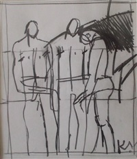 three figures by keith vaughan
