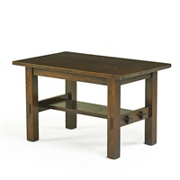library table by gustav stickley