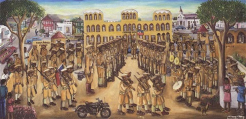a military parade haiti by wilson bigaud
