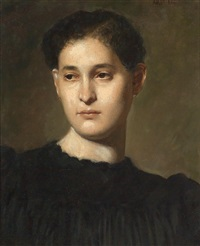 portrait of a young woman by edmund adler
