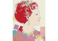 queen margrethe ii of denmark from reigning queens (royal edition) by andy warhol