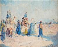 la caravane dans le désert by adrien jean le mayeur de merprés