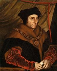 bildnis des englischen lordkanzlers und schriftstellers sir thomas more (st. thomas morus, 1478-1535) by hans holbein the younger