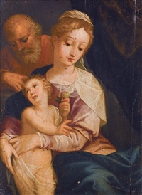 the holy family by friedrich sustris