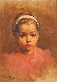 portrait de jeune fille by kurt peiser