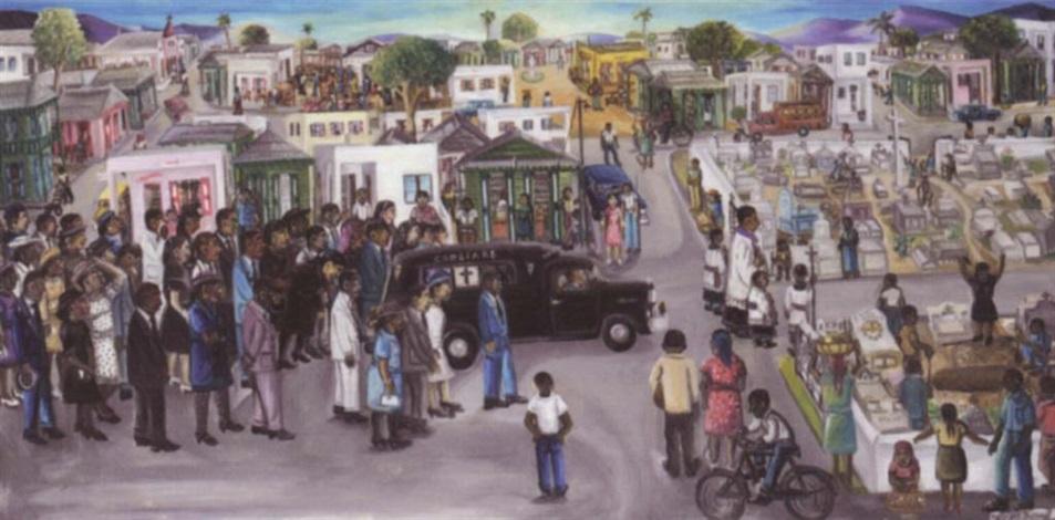 a funeral haiti by wilson bigaud