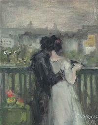 couple sur la terrasse by pierre laprade