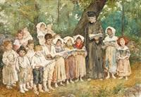 an outdoor children's choir, rome by daniele bucciarelli