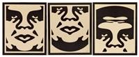 triptyque obey (triptych) by shepard fairey