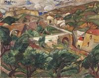 provencal village by maria-mela muter