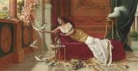 feeding the doves by i. sabatini