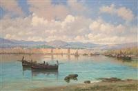 marina con barche by mario mirabella