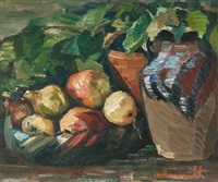 still life with fruit by väinö kamppuri