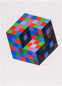variációk (portfolio of 8) by victor vasarely
