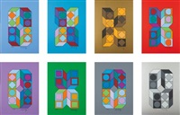 sonora (set of 8) by victor vasarely