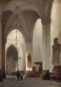 the grote kerk, breda by johannes bosboom