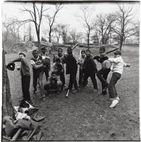 baseball game in central park, n.y.c by diane arbus
