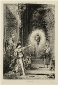 l'apparition by gustave moreau