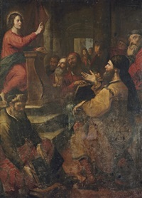 christ among the doctors by giovanni andrea ansaldo