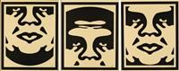 triptyque obey (ensemble de trois) by shepard fairey