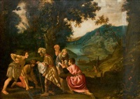 jacob enterrant les idoles by pieter lastman