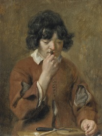young boy with tobacco by michael sweerts
