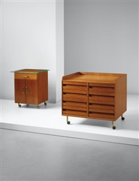 unique chest of drawers and storage unit, designed for a villa, liguria by gio ponti