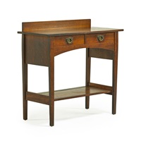two-drawer server by gustav stickley