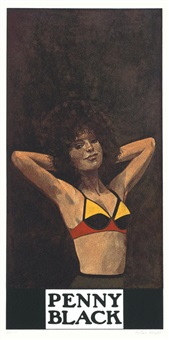 penny black (from the wrestlers suite) by peter blake