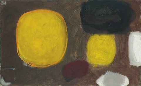 yellow oval brown october by patrick heron