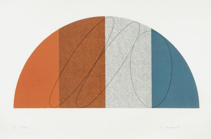 semi cercle ii by robert mangold