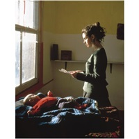 woman reading a posession order by tom hunter