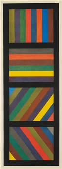 bands of lines in four directions (vertical) by sol lewitt