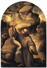 st. francis receiving the stigmata by girolamo genga