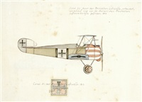 set of military aircraft designs (+31 others; 32 works) by ernst udet