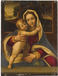 the virgin and child by andrea solario